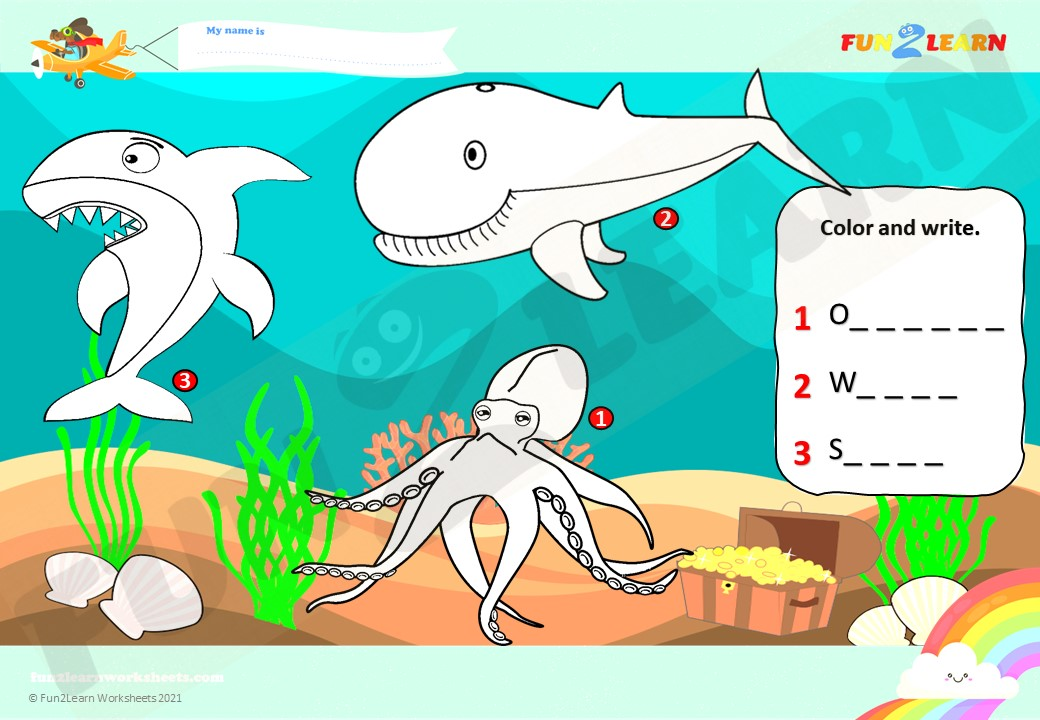 under the sea esl worksheet