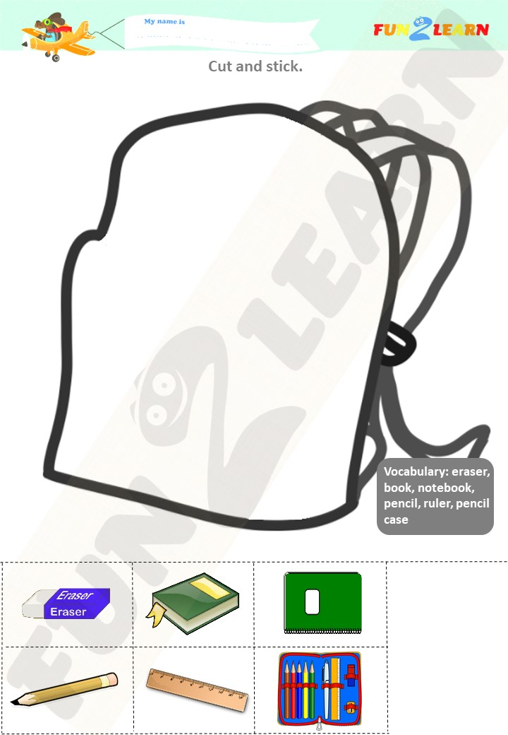 what is in your bag worksheet