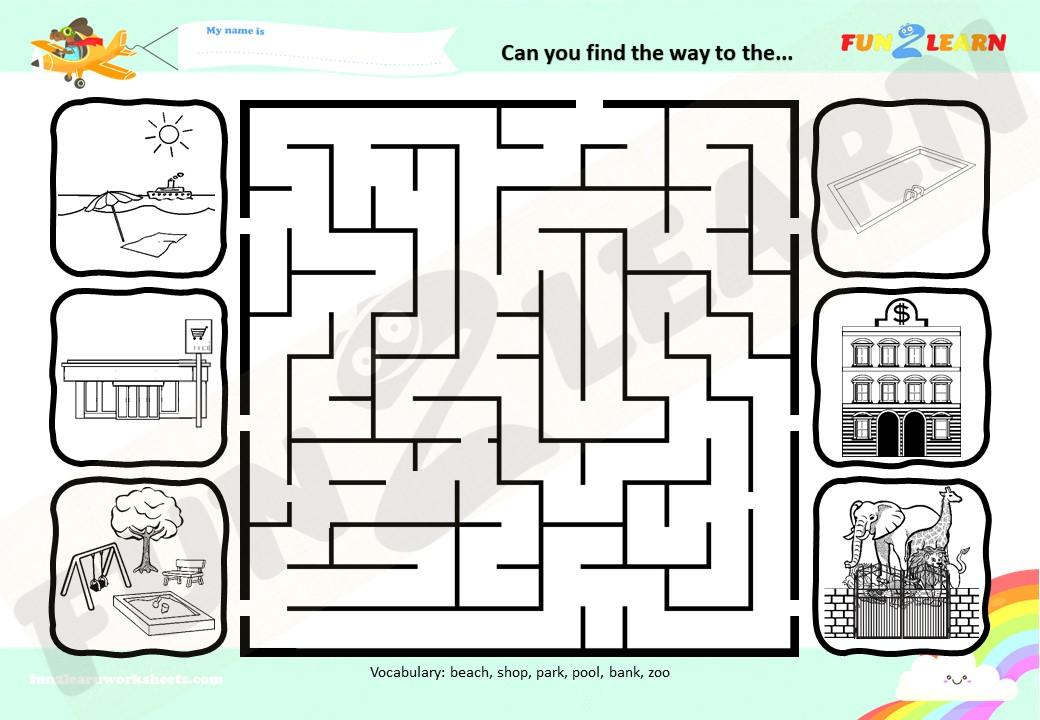 places song worksheet