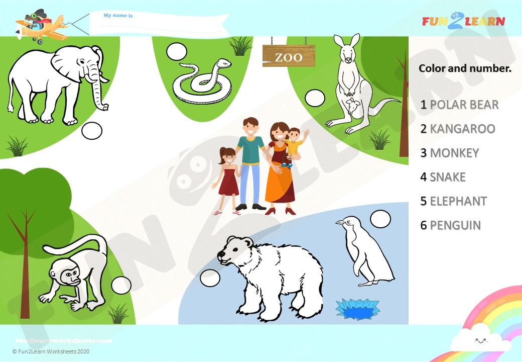 zoo esl efl worksheet