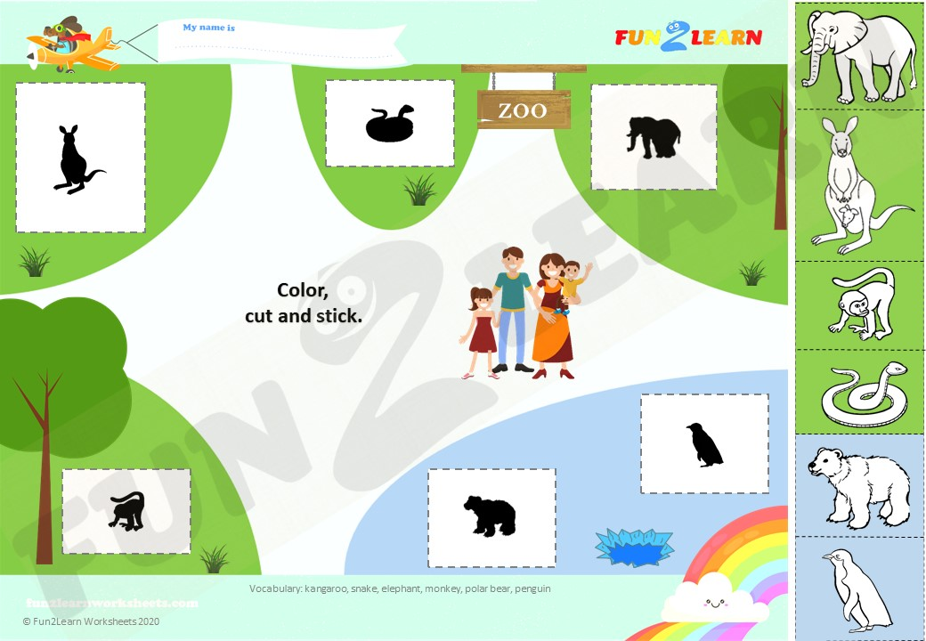 let's go to the zoo esl worksheet