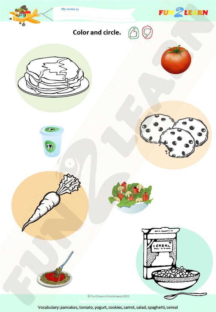 do you like spaghetti worksheet