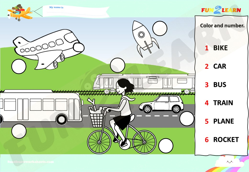 transportation song worksheet