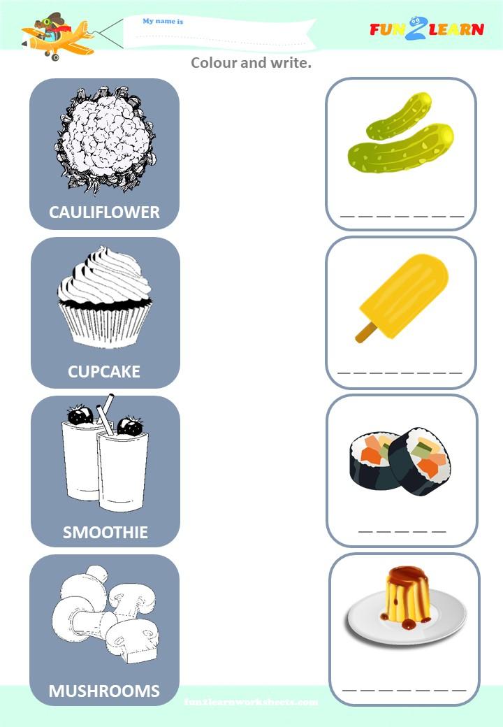 pickle pudding esl worksheet