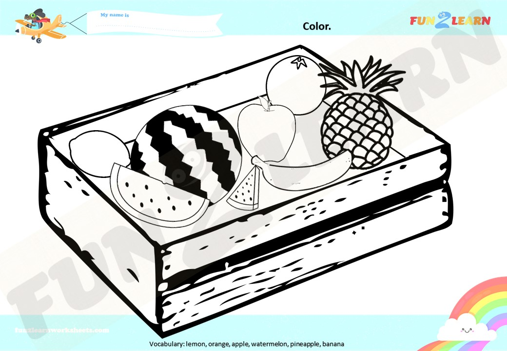 pocoyo elly's market fruit worksheet