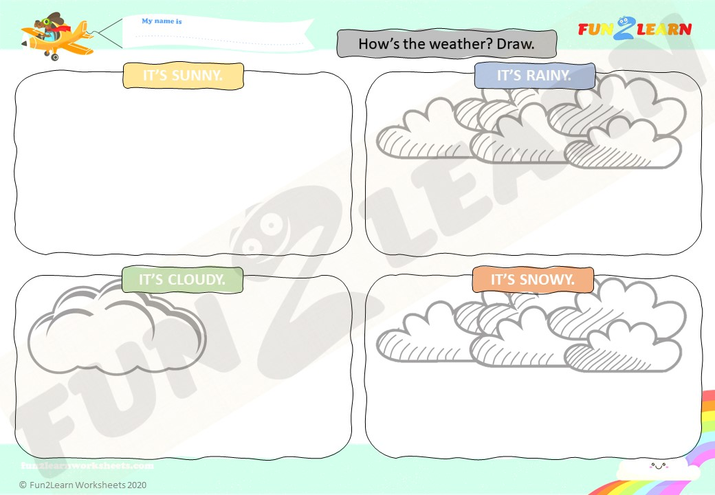 weather ESL worksheet young learners