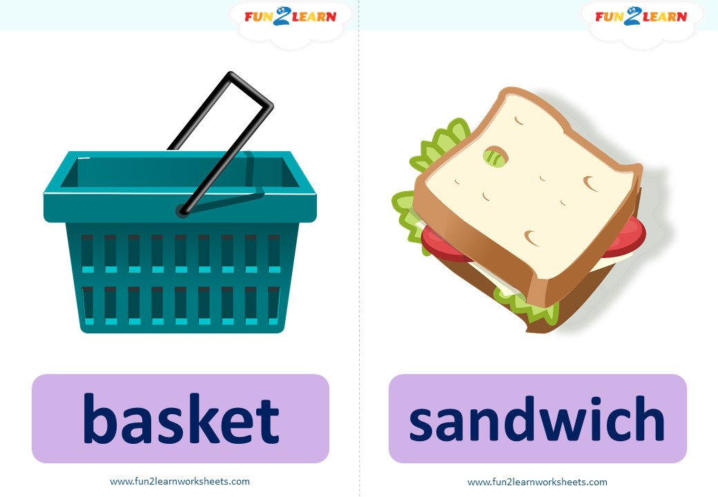 pocoyo picnic flashcards