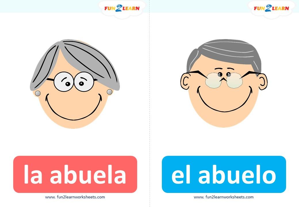 familia flashcards steve and maggie Español