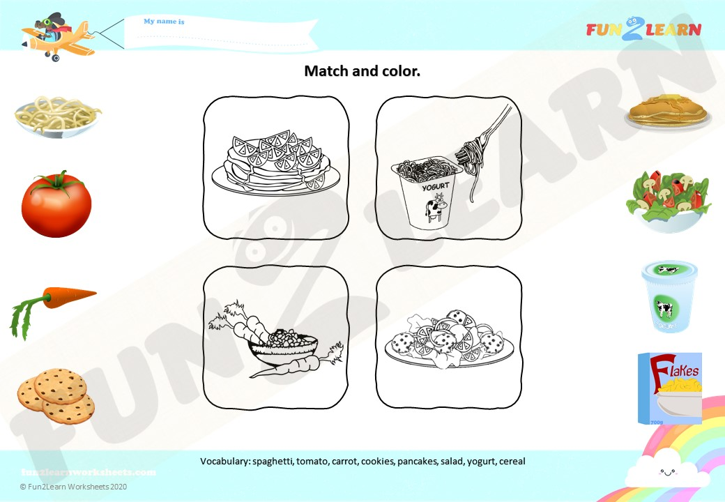 do you like spaghetti yogurt worksheet