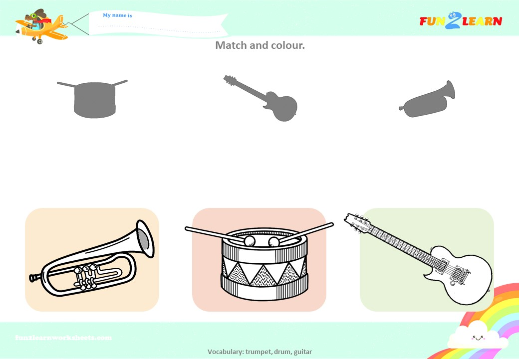 pocoyo's band worksheet
