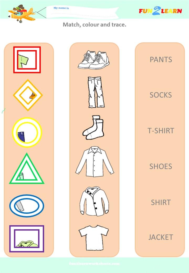 the way we get dressed worksheet