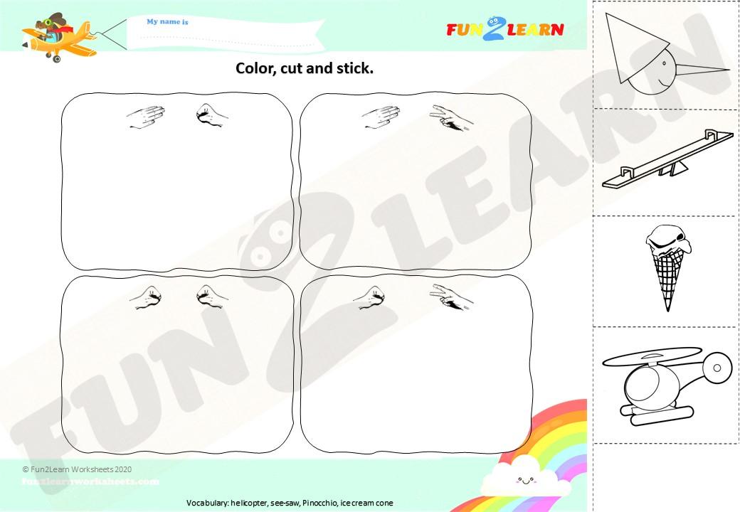 rock scissors paper 2 worksheet