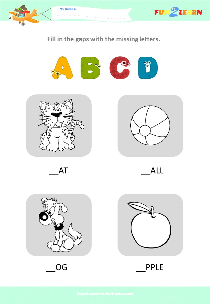 alphabet worksheet abcd