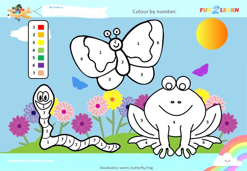 peppa frogs worms butterflies worksheet