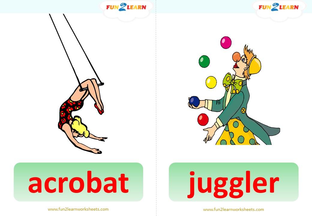 pocoyo circus flashcards