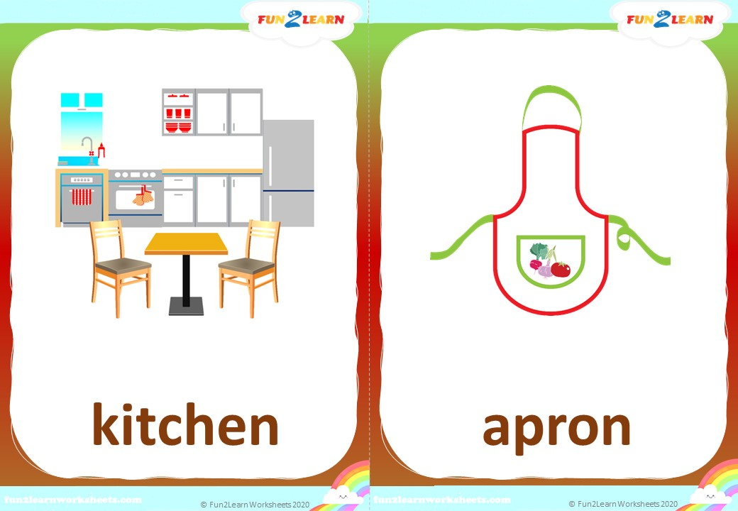 pocoyo cooking with elly kitchen flashcards