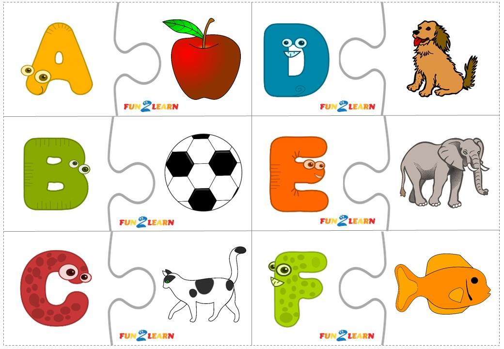 English Alphabet Puzzles free