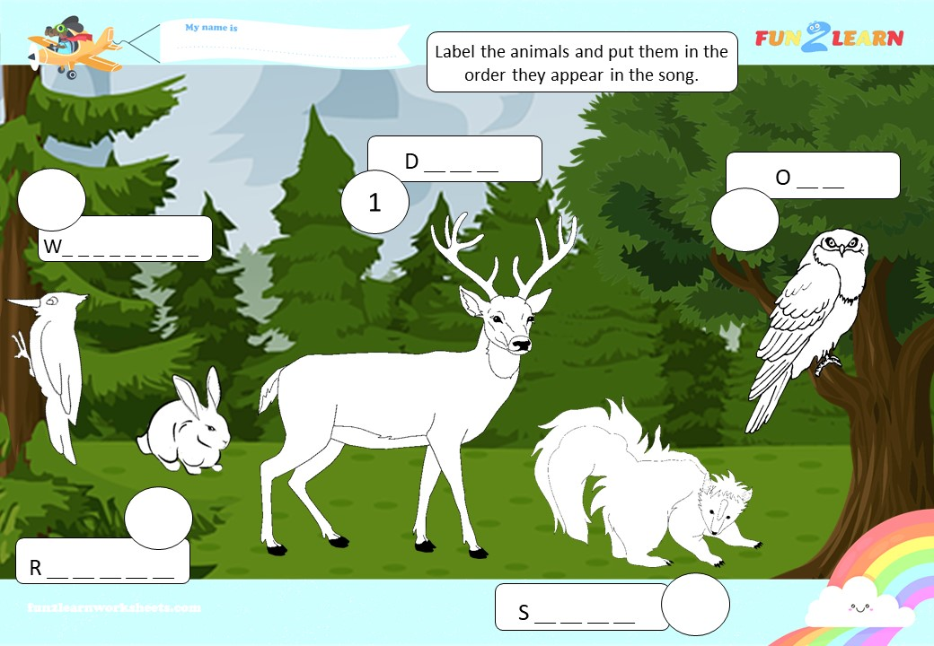 walking in the forest worksheet