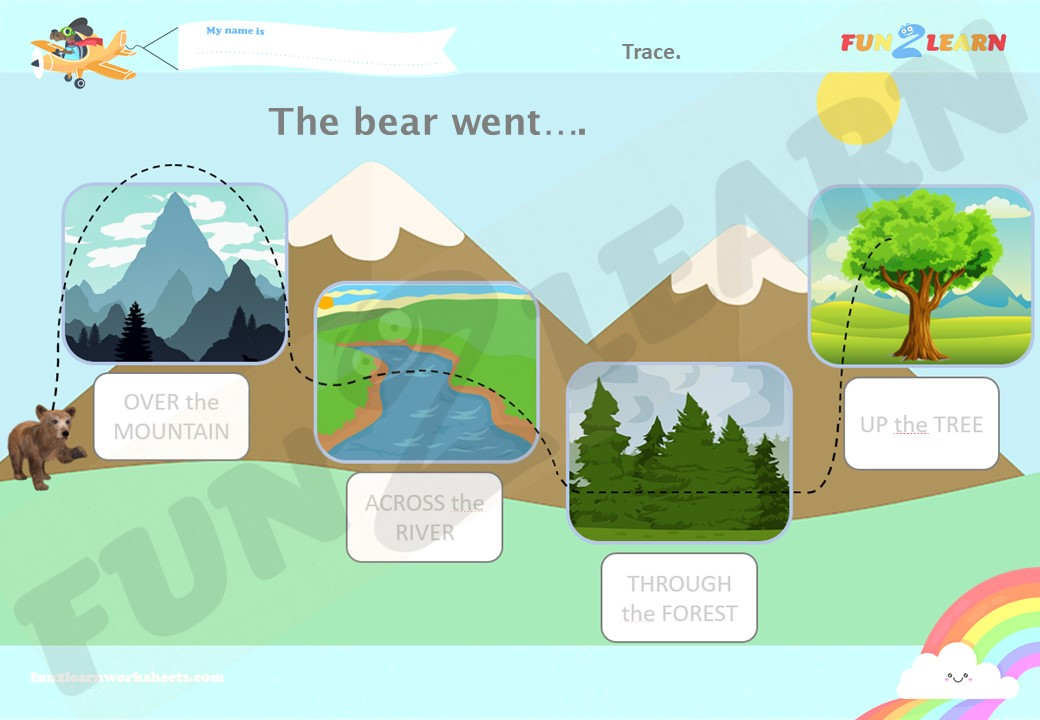 the bear went over the mountain worksheet