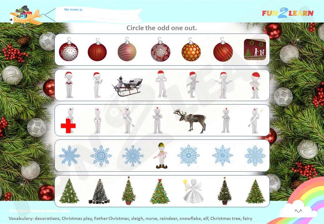 peppa pig father Christmas worksheet