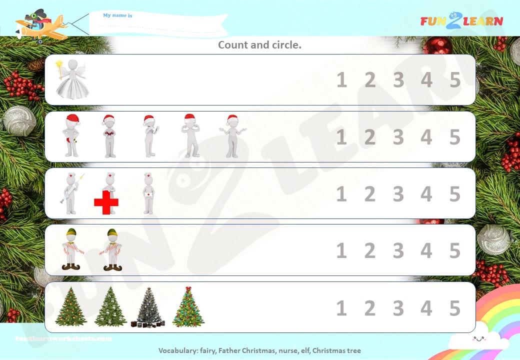 peppa christmas worksheet