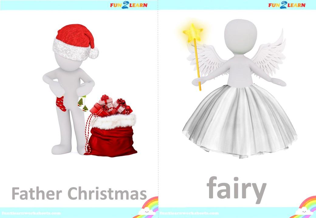 peppa Christmas flashcards