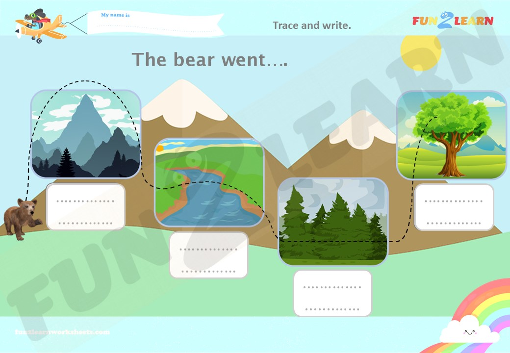 the bear went over the mountain free worksheet