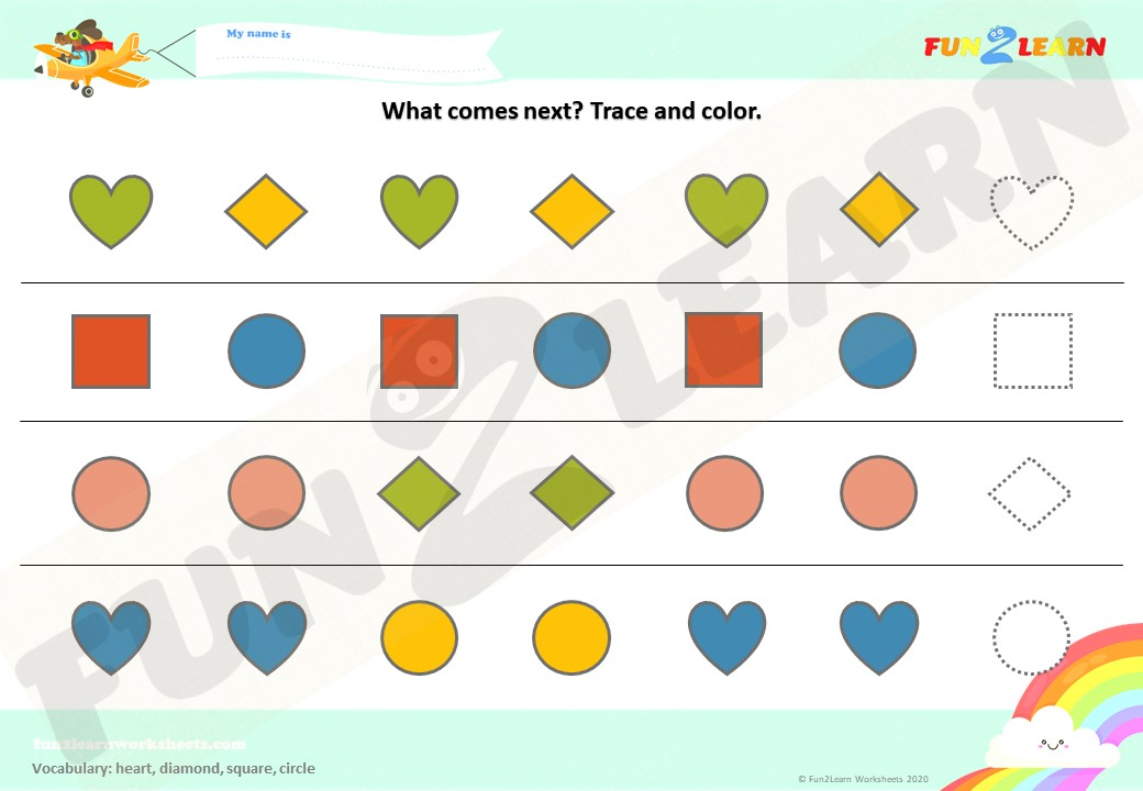 the shapes song worksheet