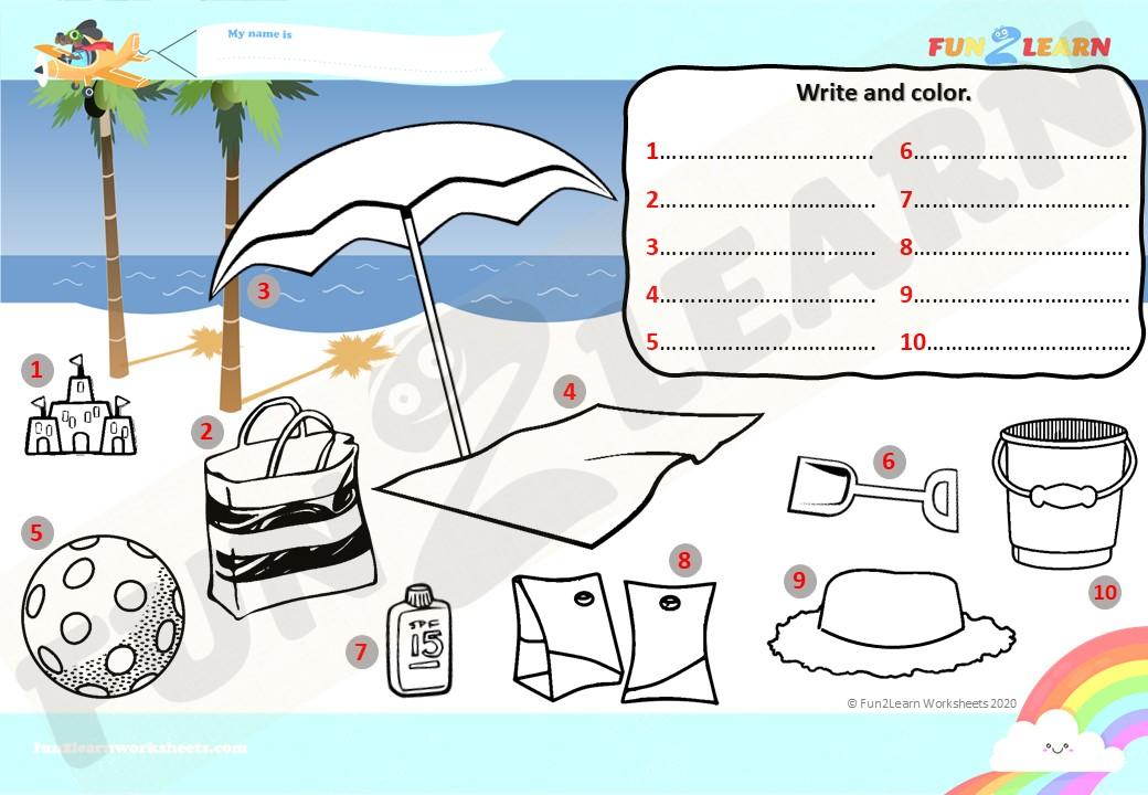 pepeppa beach worksheet EFL