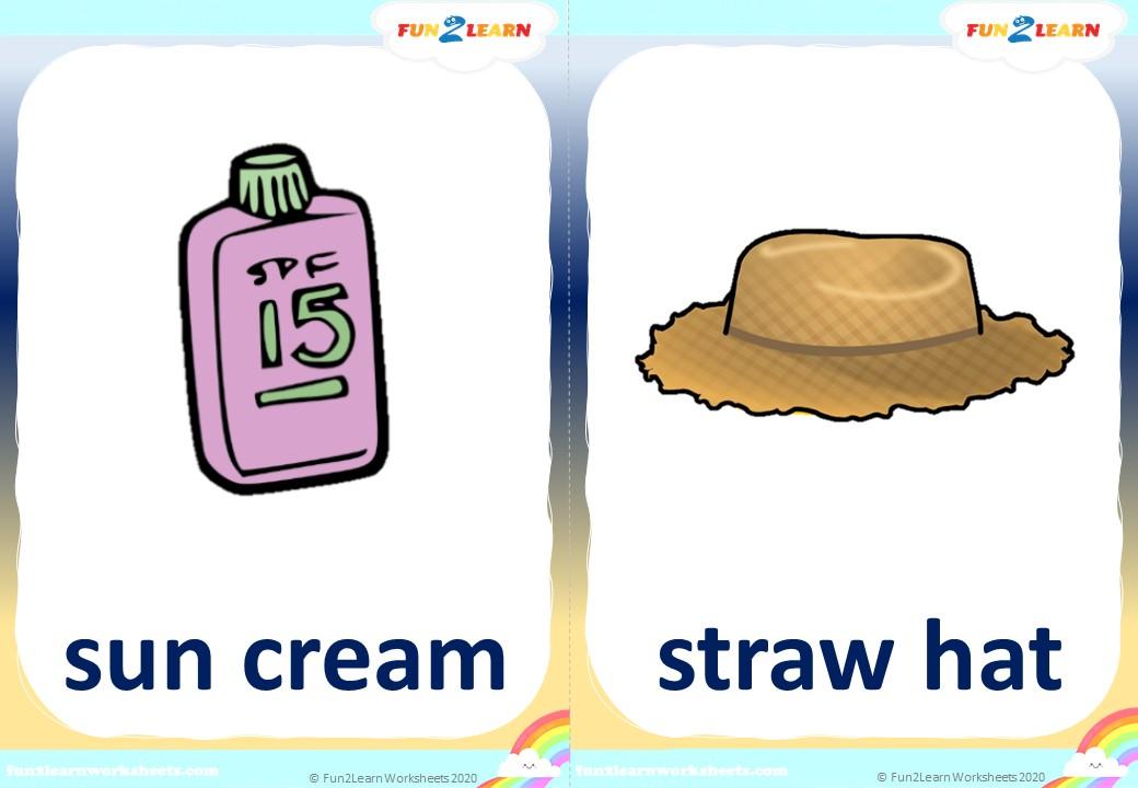 Peppa Pig beach flashcards