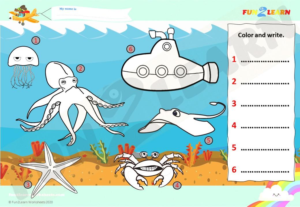 sea animals steve and maggie worksheet