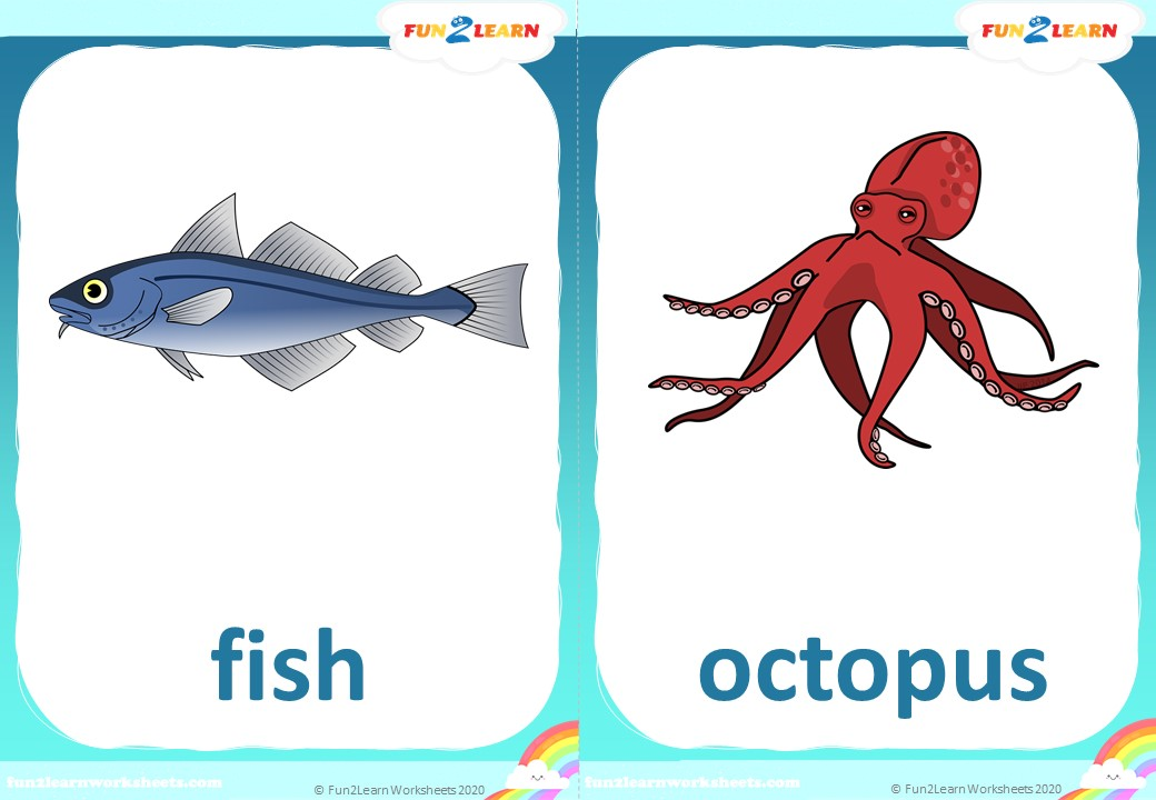 down in the deep blue sea flashcards