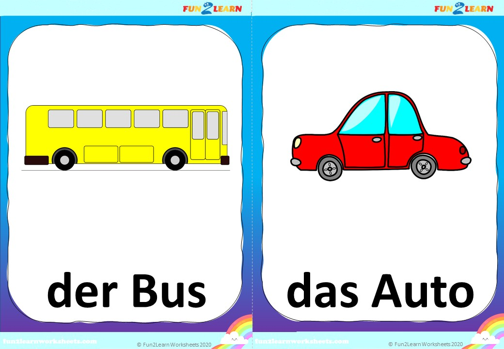 Die Räder am Bus flashcards