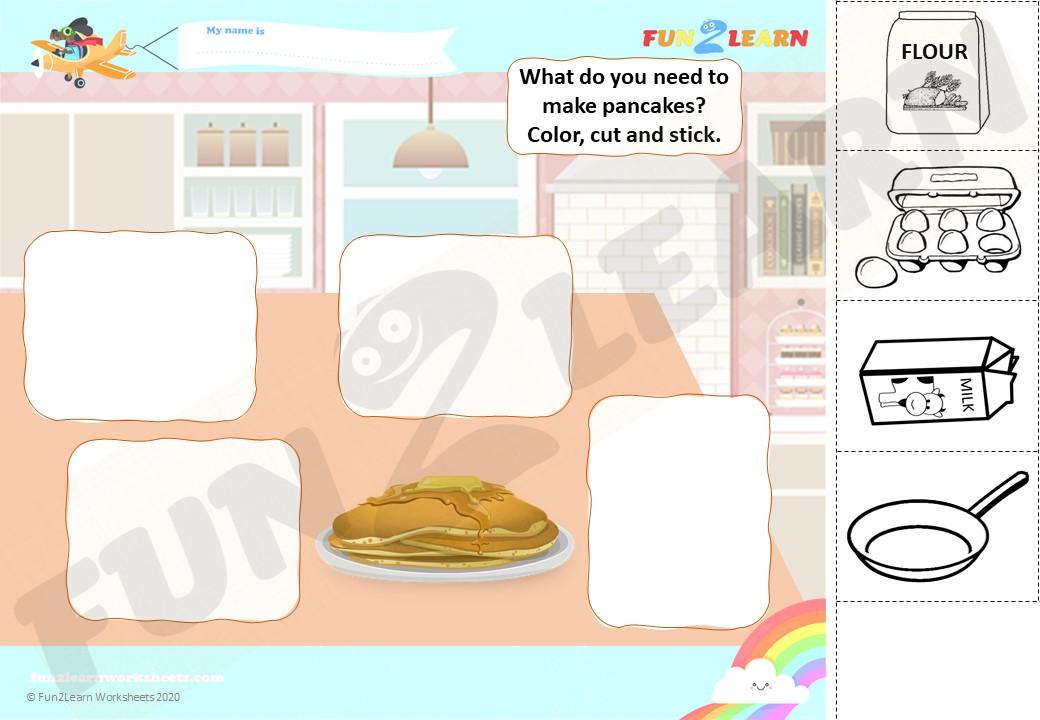 peppa pancakes esl efl worksheet