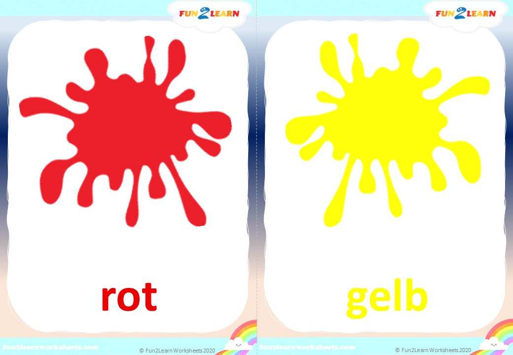 german colors flashcards