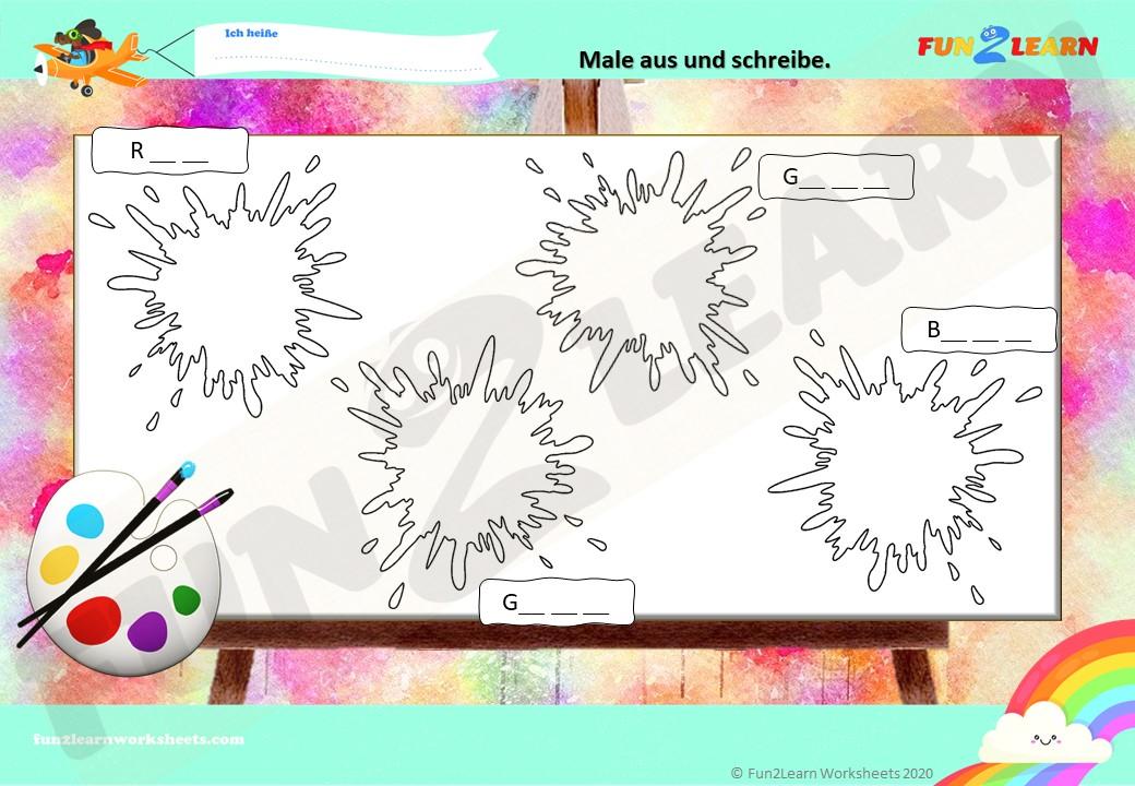 steve and maggie deutsch colors worksheet