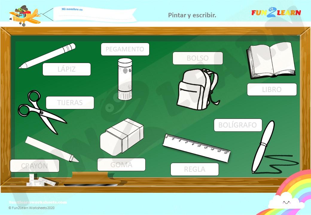 El Regreso a la Escuela steve and maggie worksheet