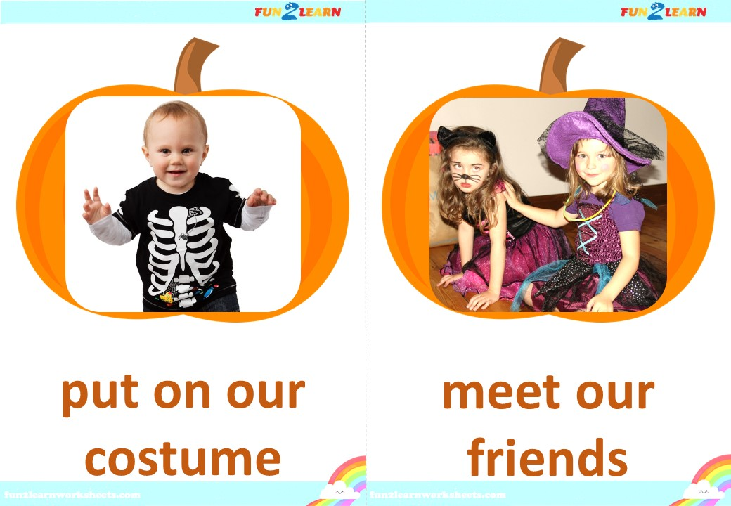 this is the way halloween flashcards