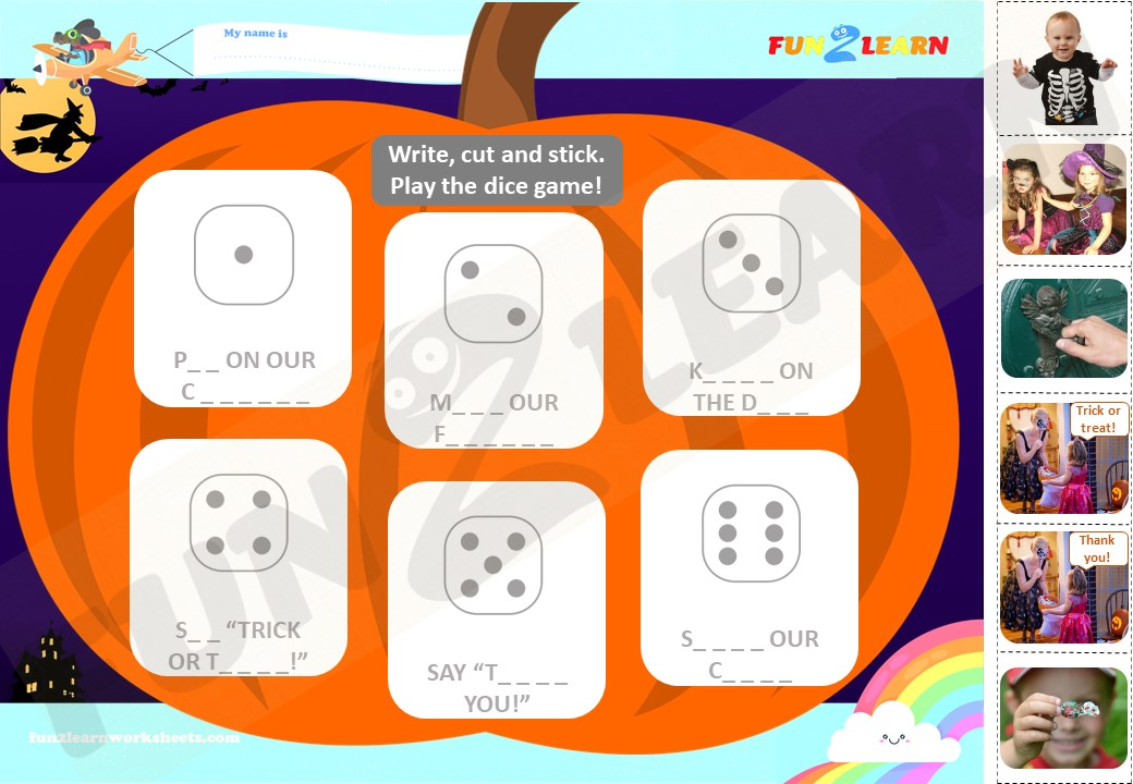 this is the way halloween worksheet