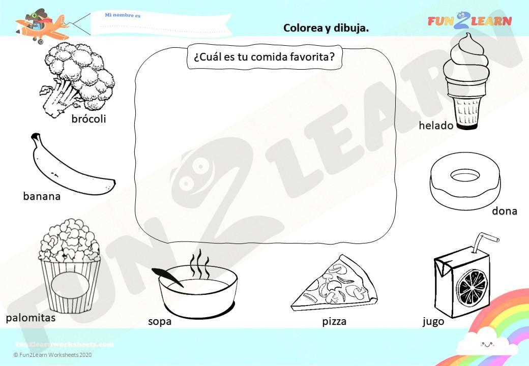 Helado De Brócoli free worksheet