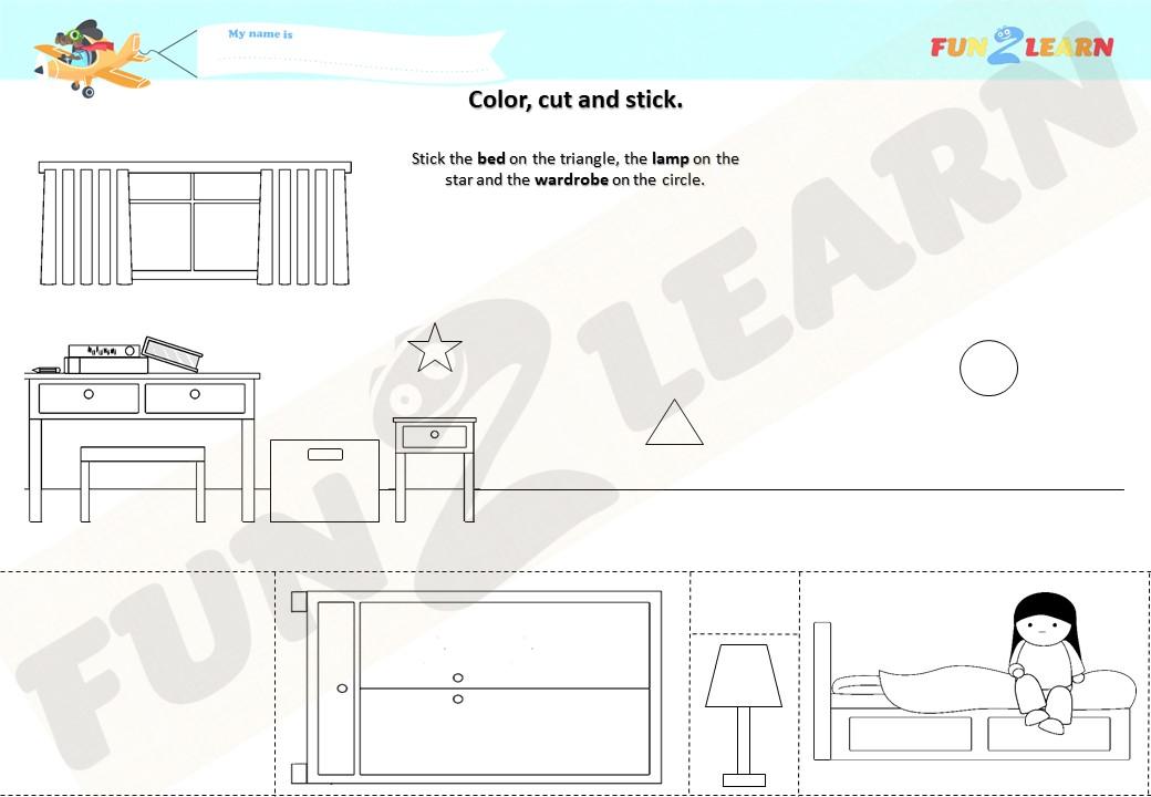 pocoyo bedroom worksheet