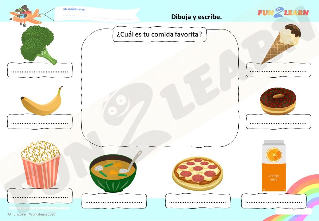 Te Gusta El Helado De Brócoli free worksheet