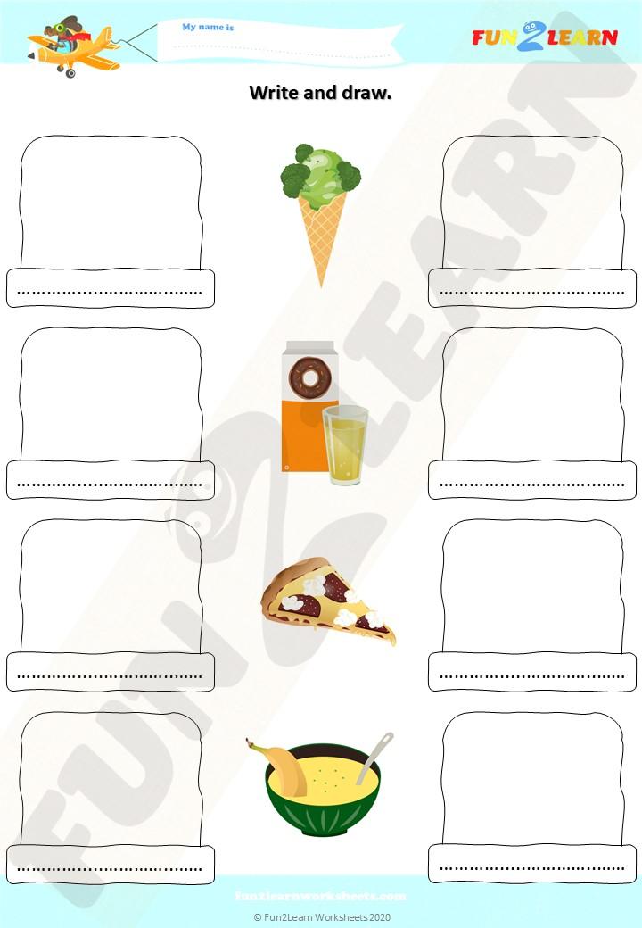 do you like broccoli ice cream worksheet
