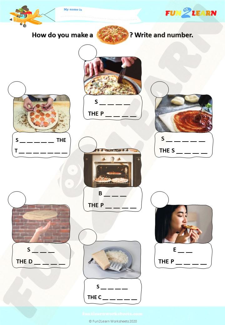pizza party super simple efl worksheet