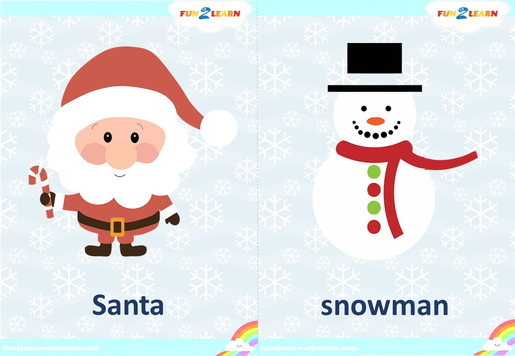 steve and maggie christmas flashcards