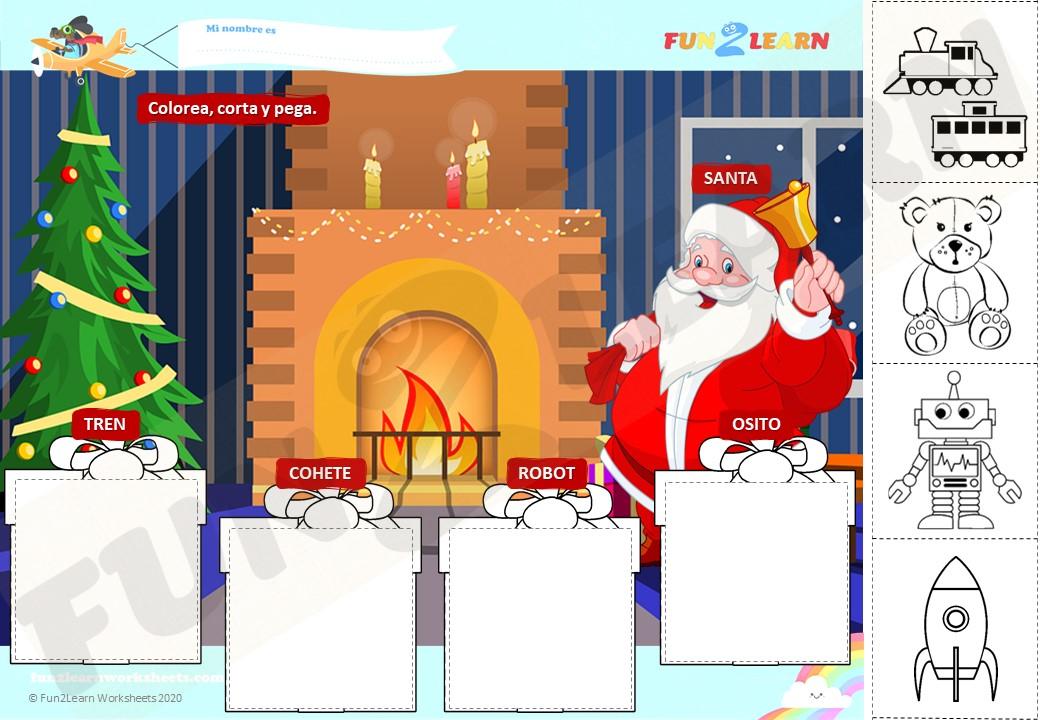 Que Quieren Para Navidad worksheet