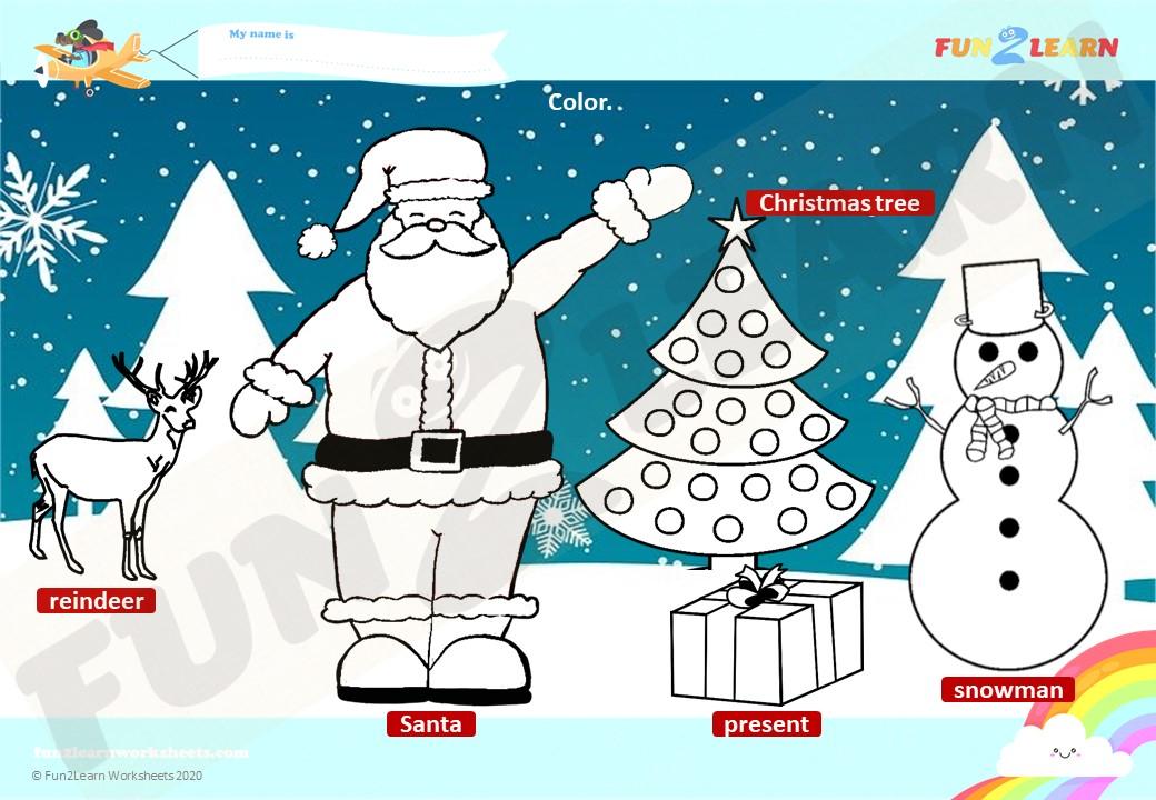 steve and maggie christmas worksheet