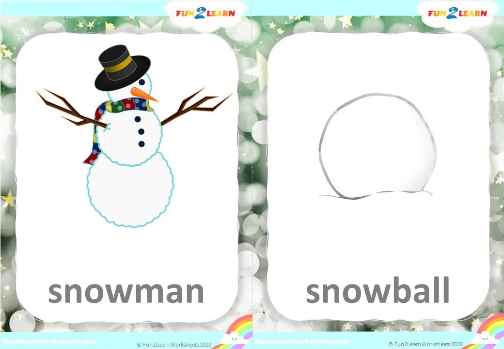 snowman esl flashcards