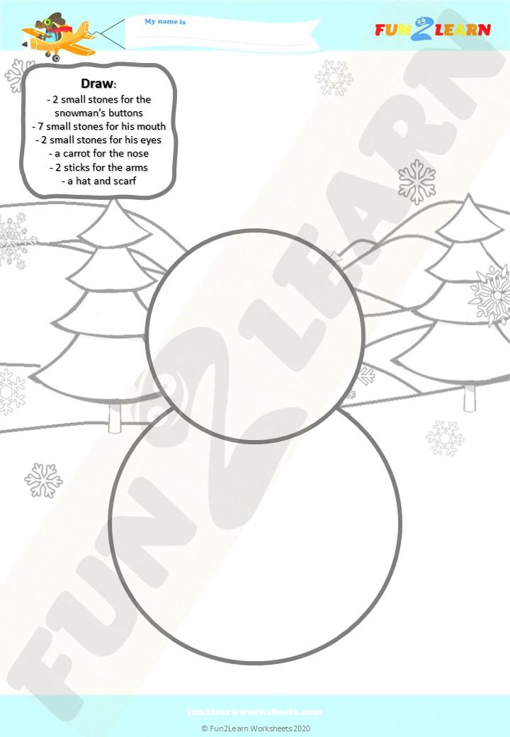 snowman esl worksheet