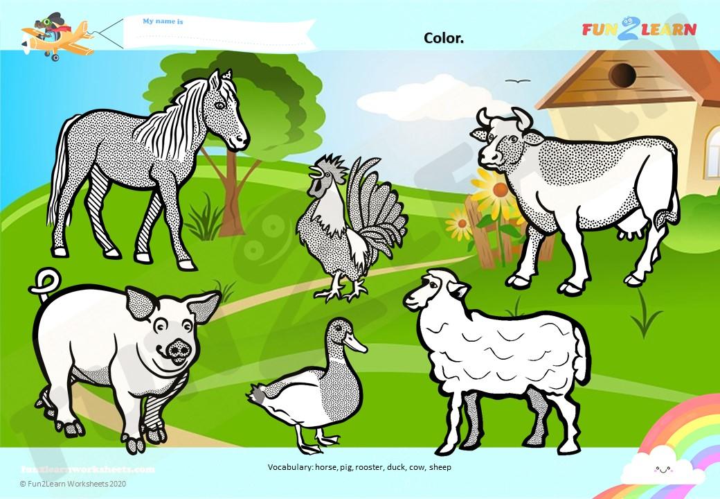 old macdonald had a farm worksheet